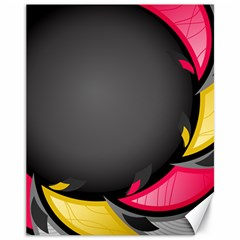 Hole Circle Line Red Yellow Black Gray Canvas 11  x 14