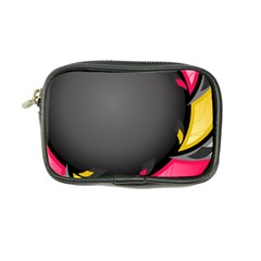 Hole Circle Line Red Yellow Black Gray Coin Purse