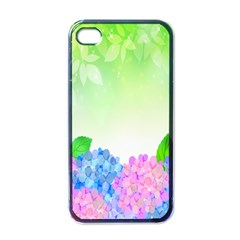 Fruit Flower Leaf Apple Iphone 4 Case (black)