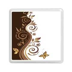 Leaf Brown Butterfly Memory Card Reader (Square)