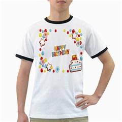 Happy Birthday Ringer T-Shirts