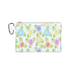 Fruit Grapes Purple Yellow Blue Pink Rainbow Leaf Green Canvas Cosmetic Bag (S)