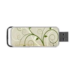 Leaf Sexy Green Gray Portable USB Flash (One Side)