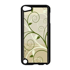 Leaf Sexy Green Gray Apple iPod Touch 5 Case (Black)