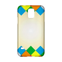 Plaid Wave Chevron Rainbow Color Samsung Galaxy S5 Hardshell Case