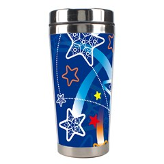 Line Star Space Blue Sky Light Rainbow Red Orange White Yellow Stainless Steel Travel Tumblers