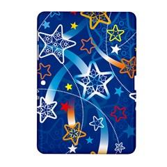Line Star Space Blue Sky Light Rainbow Red Orange White Yellow Samsung Galaxy Tab 2 (10 1 ) P5100 Hardshell Case