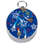 Line Star Space Blue Sky Light Rainbow Red Orange White Yellow Silver Compasses Front