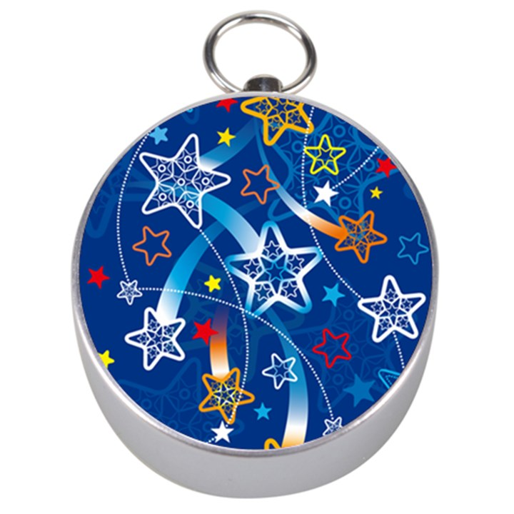 Line Star Space Blue Sky Light Rainbow Red Orange White Yellow Silver Compasses
