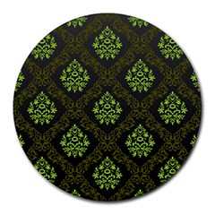 Leaf Green Round Mousepads