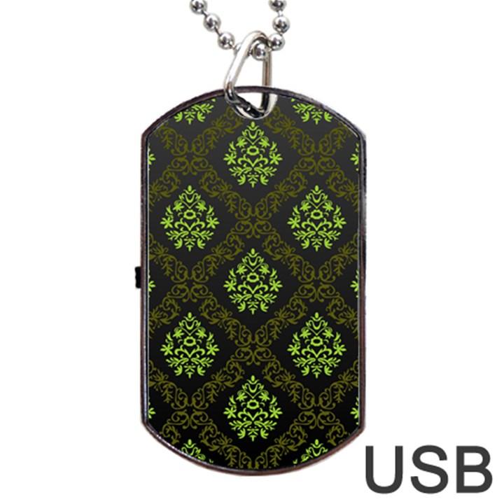 Leaf Green Dog Tag USB Flash (Two Sides)