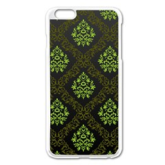 Leaf Green Apple Iphone 6 Plus/6s Plus Enamel White Case
