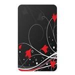 Star Red Flower Floral Black Leaf Polka Circle Memory Card Reader Front
