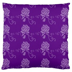 Purple Flower Rose Sunflower Standard Flano Cushion Case (Two Sides)