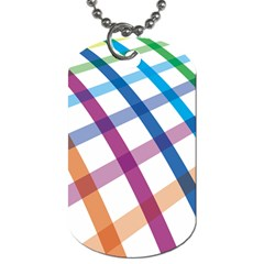 Webbing Line Color Rainbow Dog Tag (Two Sides)