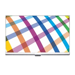 Webbing Line Color Rainbow Business Card Holders