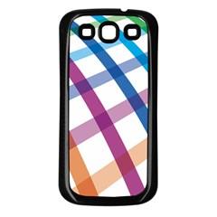 Webbing Line Color Rainbow Samsung Galaxy S3 Back Case (black)