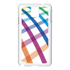 Webbing Line Color Rainbow Samsung Galaxy Note 3 N9005 Case (White)