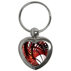 Webbing Red Key Chains (Heart)