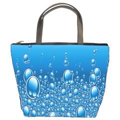 Water Bubble Blue Foam Bucket Bags
