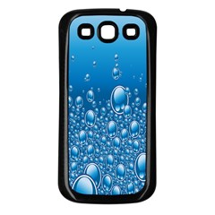 Water Bubble Blue Foam Samsung Galaxy S3 Back Case (black)