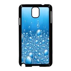 Water Bubble Blue Foam Samsung Galaxy Note 3 Neo Hardshell Case (black)