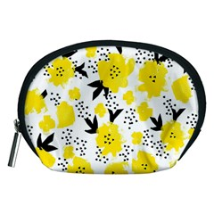 Yellow Flowers Accessory Pouch (Medium)