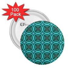 Turquoise Damask Pattern 2.25  Buttons (100 pack)