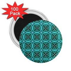 Turquoise Damask Pattern 2.25  Magnets (100 pack)