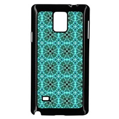 Turquoise Damask Pattern Samsung Galaxy Note 4 Case (Black)