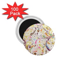 Colorful Seamless Floral Background 1.75  Magnets (100 pack)