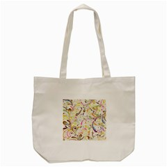 Colorful Seamless Floral Background Tote Bag (Cream)