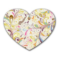 Colorful Seamless Floral Background Heart Mousepads