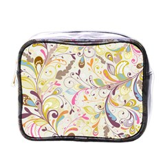 Colorful Seamless Floral Background Mini Toiletries Bags
