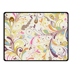 Colorful Seamless Floral Background Fleece Blanket (Small)