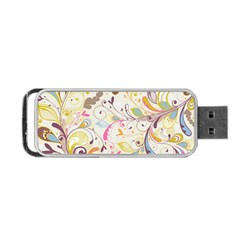 Colorful Seamless Floral Background Portable USB Flash (Two Sides)