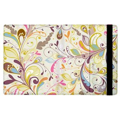 Colorful Seamless Floral Background Apple iPad 3/4 Flip Case