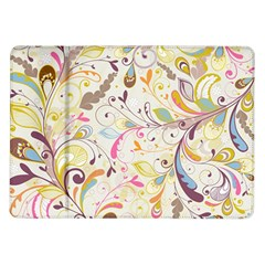 Colorful Seamless Floral Background Samsung Galaxy Tab 10.1  P7500 Flip Case