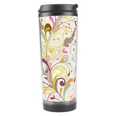 Colorful Seamless Floral Background Travel Tumbler