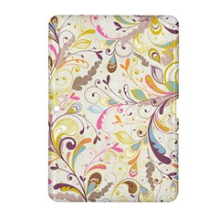 Colorful Seamless Floral Background Samsung Galaxy Tab 2 (10.1 ) P5100 Hardshell Case