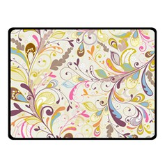 Colorful Seamless Floral Background Double Sided Fleece Blanket (small)