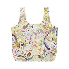 Colorful Seamless Floral Background Full Print Recycle Bags (m)