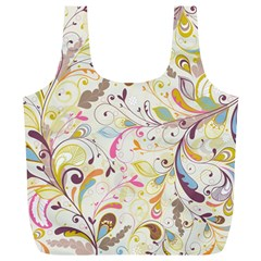 Colorful Seamless Floral Background Full Print Recycle Bags (l)