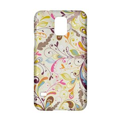 Colorful Seamless Floral Background Samsung Galaxy S5 Hardshell Case