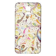 Colorful Seamless Floral Background Samsung Galaxy S5 Back Case (white)