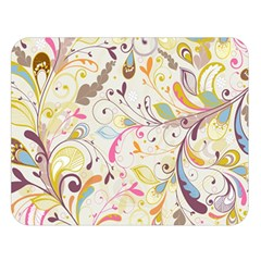 Colorful Seamless Floral Background Double Sided Flano Blanket (Large)