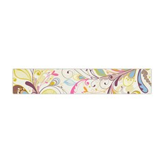 Colorful Seamless Floral Background Flano Scarf (mini)