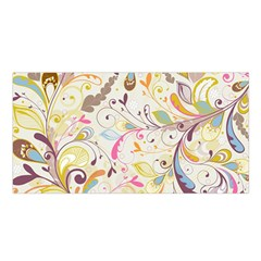 Colorful Seamless Floral Background Satin Shawl