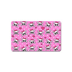 Cute skulls  Magnet (Name Card)
