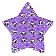 Cute skulls  Star Ornament (Two Sides)
